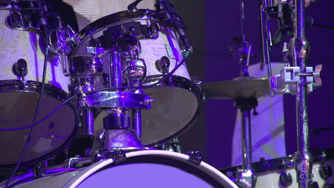 Drummer in a Rock Band HD Stock Video Footage