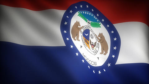 Flag of Missouri Stock Video Footage