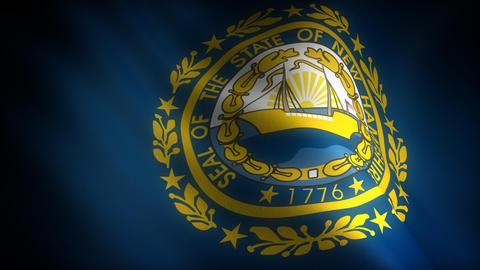 Flag of New Hampshire Stock Video Footage