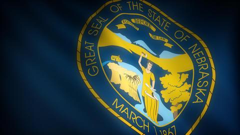 Flag of Nebraska Stock Video Footage
