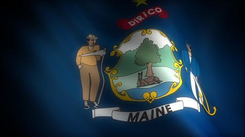Flag of Maine Stock Video Footage