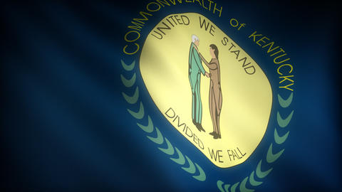 Flag of Kentucky Stock Video Footage