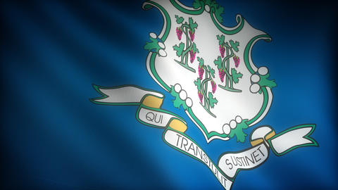 Flag of Connecticut Stock Video Footage