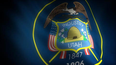 Flag of Utah Stock Video Footage