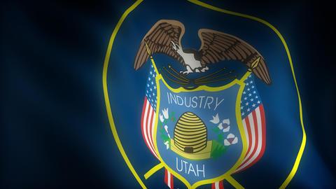 Flag of Utah Stock Video Footage