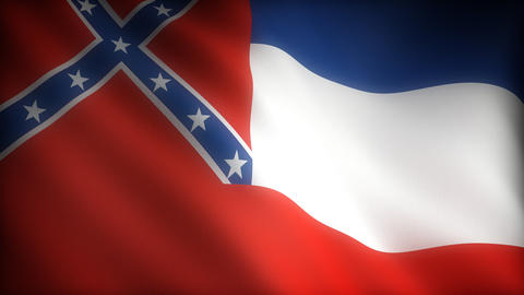 Flag of Mississippi Stock Video Footage