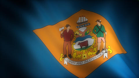 Flag of Delaware Stock Video Footage