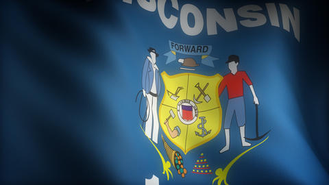 Flag of Wisconsin Animation