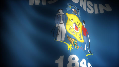 Flag of Wisconsin Stock Video Footage