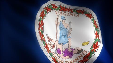 Flag of Virginia Animation