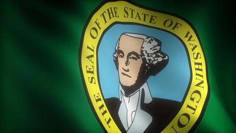 Flag of Washington Animation