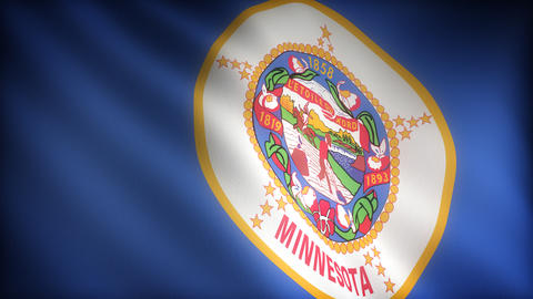 Flag of Minnesota Stock Video Footage