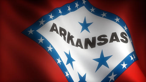 Flag of Arkansas Animation