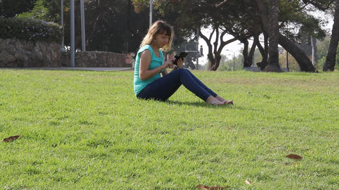 woman using smartphone Footage
