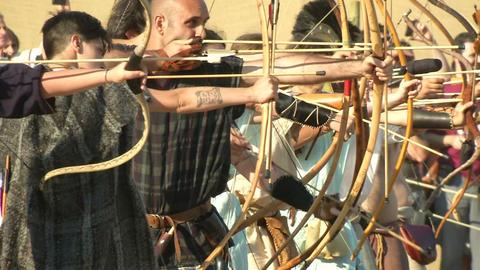 celt archer 02 Stock Video Footage