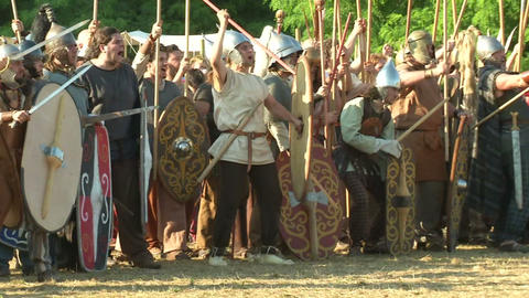 celt army 03 Stock Video Footage