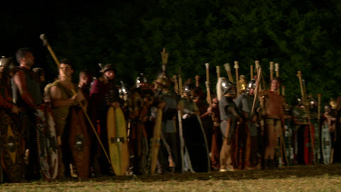 celt army night 02 Stock Video Footage