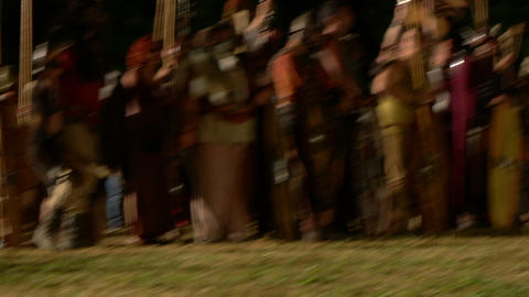 celt army night 04 Stock Video Footage