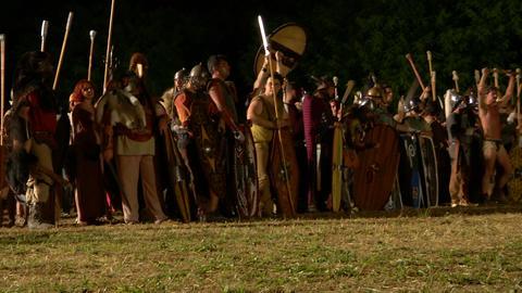 celt army night 04 Stock Video Footage