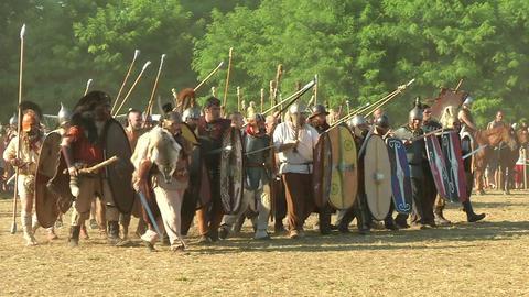 celt roman attack 11 Stock Video Footage