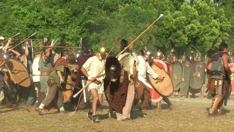 celt roman attack 13 Stock Video Footage