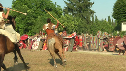 celt roman attack 31 Stock Video Footage