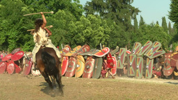 Celt Roman Attack 31 stock footage