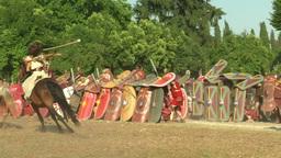 celt roman attack 31 Stock Video Footage