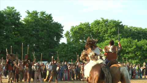 celt roman attack 33 Stock Video Footage