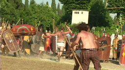 celt roman attack 35 Stock Video Footage