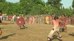 celt roman attack 42 Stock Video Footage