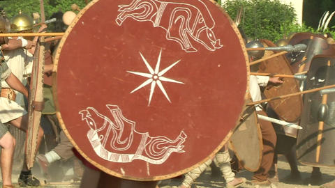 celt roman attack 44 Stock Video Footage