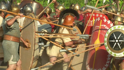 celt roman attack 44 Stock Video Footage
