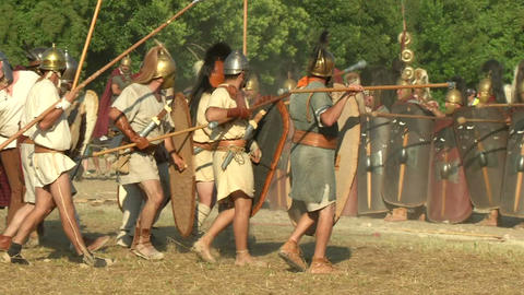 celt roman attack 46 Stock Video Footage