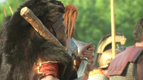 celt roman battle final 61 Stock Video Footage