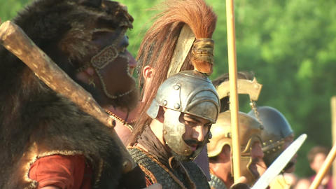 celt roman battle final 61 Stock Video Footage