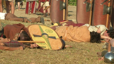 celt roman battle final 63 Stock Video Footage