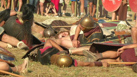 celt roman battle final 63 Stock Video Footage