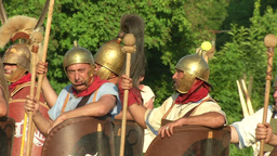 celt roman battle final 65 Stock Video Footage