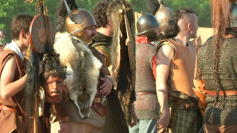 celt roman battle final 67 Stock Video Footage