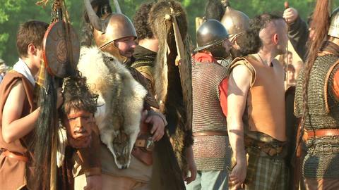celt roman battle final 67 Stock Video Footage