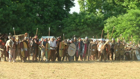 celt roman cavalry 01 Stock Video Footage