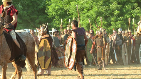 celt roman cavalry 03 Stock Video Footage