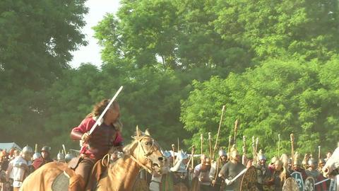 celt roman cavalry 05 Stock Video Footage