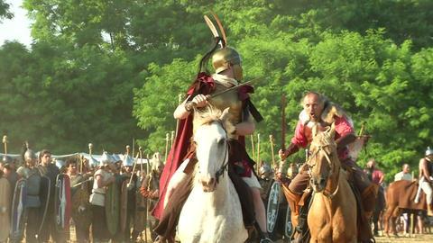 celt roman cavalry 05 Footage