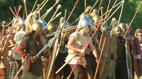 celt roman fight 22 Stock Video Footage