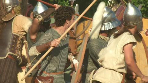 celt roman fight 24 Stock Video Footage