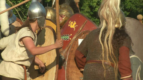 celt roman fight 24 Stock Video Footage