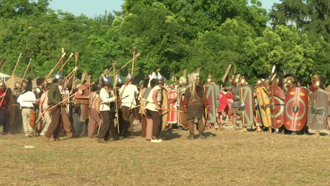 celt roman fight 26 Stock Video Footage