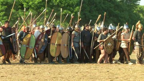 celt roman fight 51 Stock Video Footage